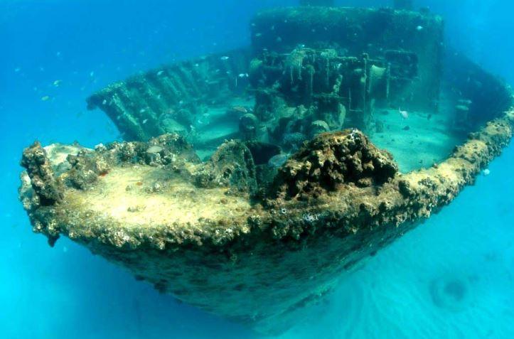 Затонувшее судно Крит